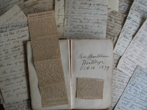 John Markham's sermon notes and obit copy