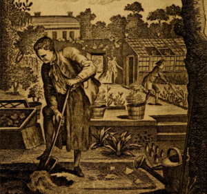 Frontispiece from Every Man his own Gardener, 1782 v2