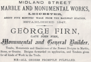 George Firn trade directory advert 1875