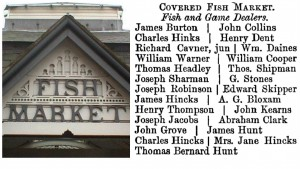 Leicester Fish Market with 1883-4 trade directory listing