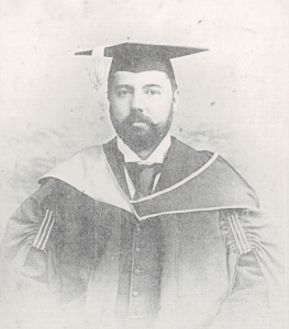 1892 George Jennings Collis graduates from Clare College, cropped