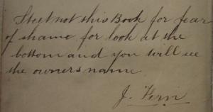 John Firn book inscription