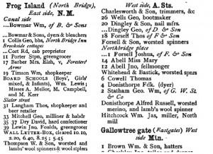 Frog Island directory 1875