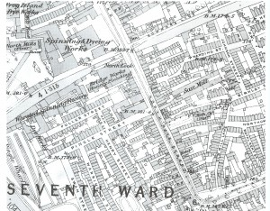 Northgate Street map 1889