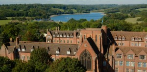 Ardingly College and lake