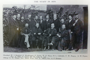 Wyggeston Boys' School staff 1878