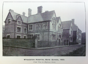 Wyggeston Boys' School viewed from Highcross Street