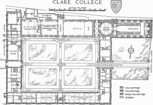 Clare College floorplan