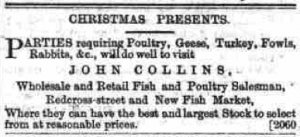 1877 Advert for Christmas