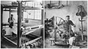 Silk weaving in Middleton, Lancs c1850s